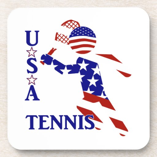 USA Tennis Player - Men's Tennis Drink Coasters