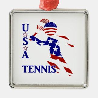 USA Tennis Player - Men's Tennis Christmas Ornaments