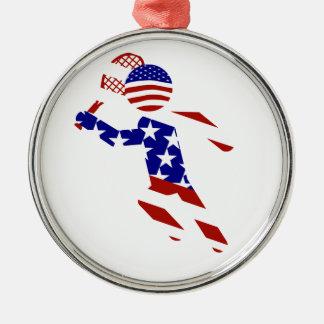 USA Tennis Player - Mens Tennis Christmas Ornaments