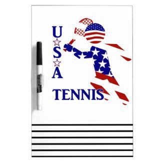 USA Tennis Player - Men's Tennis Dry Erase Board
