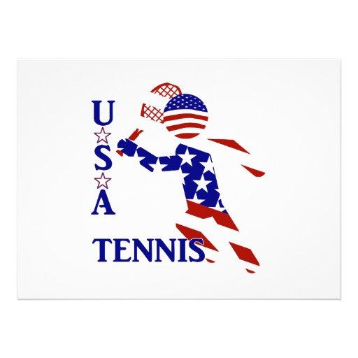 USA Tennis Player - Men's Tennis Custom Invitations