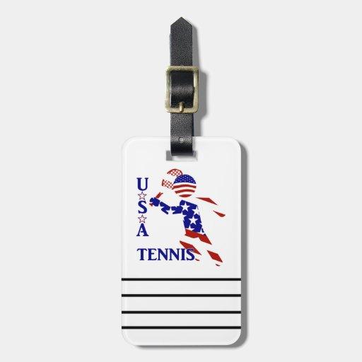 USA Tennis Player - Men's Tennis Luggage Tag
