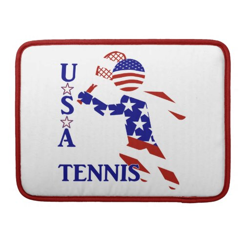 USA Tennis Player - Men's Tennis Sleeves For MacBooks