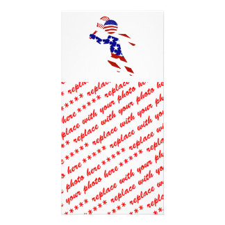 USA Tennis Player - Mens Tennis Customized Photo Card