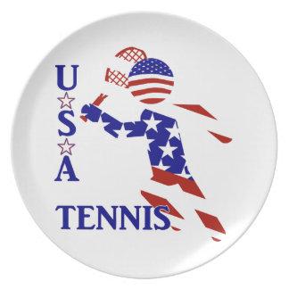 USA Tennis Player - Men's Tennis Plate