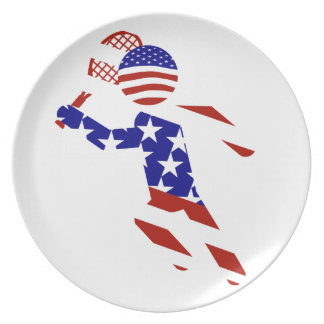 USA Tennis Player - Mens Tennis Party Plate