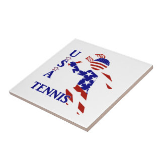 USA Tennis Player - Men's Tennis Small Square Tile