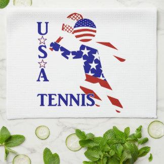 USA Tennis Player - Men's Tennis Tea Towel