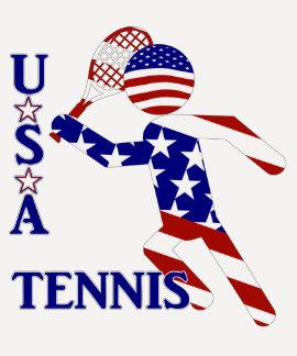 USA Tennis Player - Men's Tennis Tee Shirt