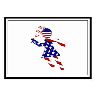 USA Tennis Player - Women's Tennis Business Card Templates