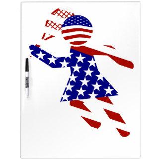 USA Tennis Player - Women's Tennis Dry Erase Whiteboards