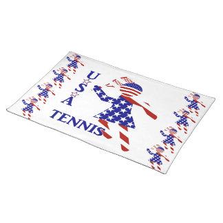USA Tennis Player - Women's Tennis Place Mat
