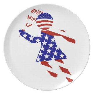 USA Tennis Player - Women's Tennis Plate