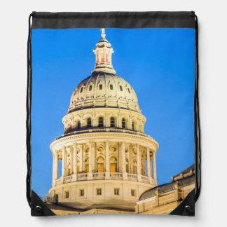 USA, Texas, Austin. Capitol Building (1888) 2 Drawstring Bag