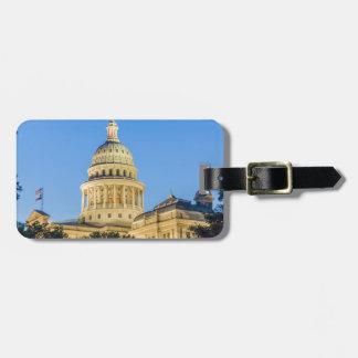 USA, Texas, Austin. Capitol Building (1888) 3 Luggage Tag