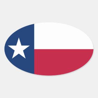 USA Texas* Flag Euro-style Oval Sticker
