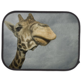 USA, Texas, Fossil Rim Wildlife Area, giraffe Floor Mat