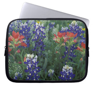 USA, Texas Hill Country. Bluebonnets and Laptop Sleeve