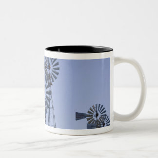 USA, TEXAS, Lubbock: American Wind Power Center Two-Tone Coffee Mug