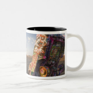 USA, TEXAS, Panhandle Area, Amarillo: Cadillac 2 Two-Tone Coffee Mug