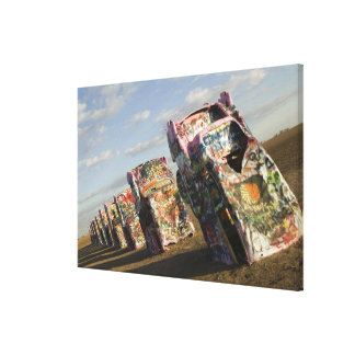 USA, TEXAS, Panhandle Area, Amarillo: Cadillac Canvas Print