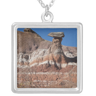 USA, Texas, Panhandle, Hoodoo Silver Plated Necklace