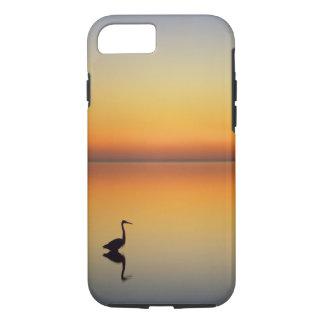 USA, Texas, Port Aransas, Great Blue Heron at iPhone 7 Case