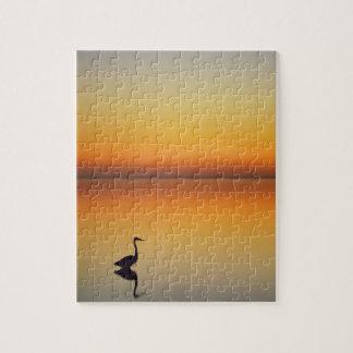 USA, Texas, Port Aransas, Great Blue Heron at Jigsaw Puzzle
