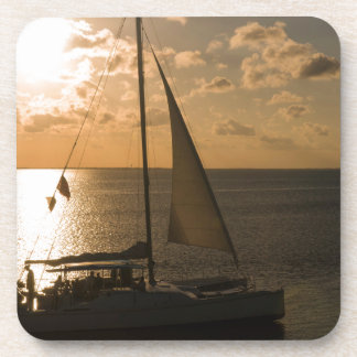 USA, Texas, South Padre Island. Sailboat Coasters