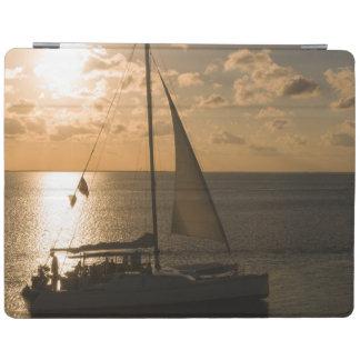 USA, Texas, South Padre Island. Sailboat iPad Cover