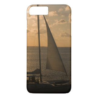USA, Texas, South Padre Island. Sailboat iPhone 8 Plus/7 Plus Case
