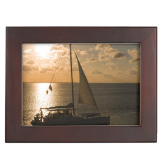 USA, Texas, South Padre Island. Sailboat Memory Boxes
