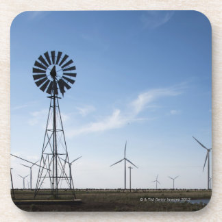 USA, Texas, Vega, Old ranch windmill and water Coaster