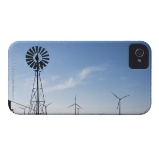 USA, Texas, Vega, Old ranch windmill and water iPhone 4 Case