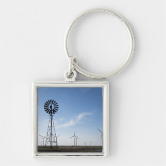 USA, Texas, Vega, Old ranch windmill and water Key Ring