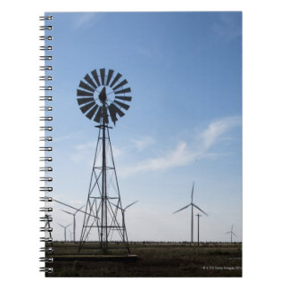 USA, Texas, Vega, Old ranch windmill and water Notebooks