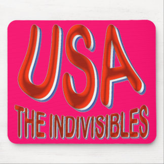 USA THE INDIVISIBLES Red White Blue Mouse Pad