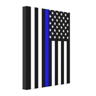 USA Thin Blue Line Canvas Print