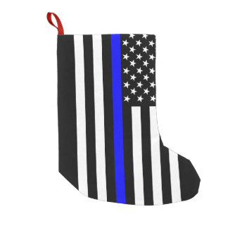 USA Thin Blue Line Small Christmas Stocking