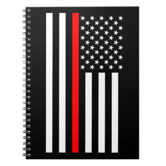 USA Thin Red Line Notebooks