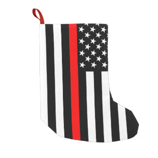 USA Thin Red Line Small Christmas Stocking
