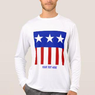 USA-Three Star American Flag T-Shirt
