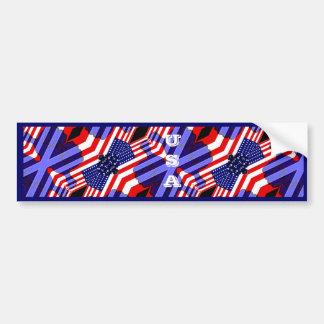 USA,Thumbs Up_ Car Bumper Sticker