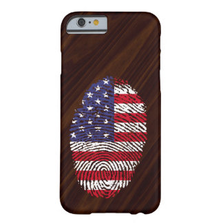 Usa touch fingerprint flag barely there iPhone 6 case