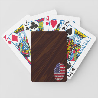 Usa touch fingerprint flag bicycle playing cards