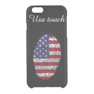 Usa touch fingerprint flag clear iPhone 6/6S case