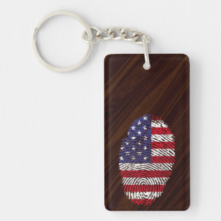 Usa touch fingerprint flag key ring