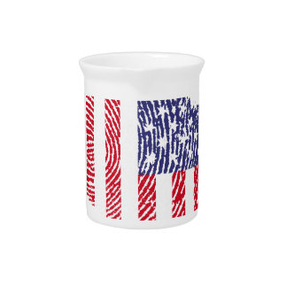 Usa touch fingerprint flag pitcher