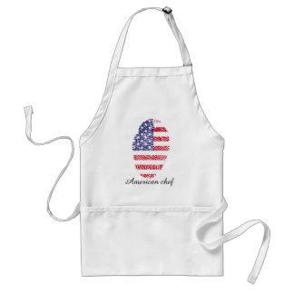 Usa touch fingerprint flag standard apron