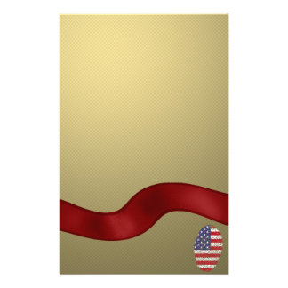 Usa touch fingerprint flag stationery paper